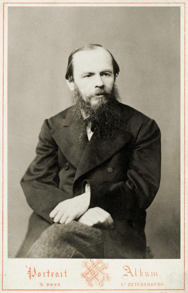 Fyodor M. Dostoevsky, 1876 Photography by N. Dossa