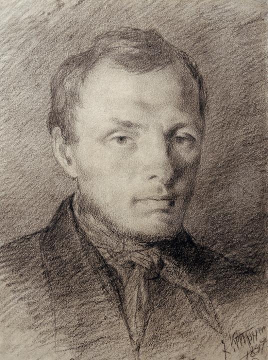 Fyodor M. Dostoevsky, 1847 Drawing by Konstantin Trutovsky